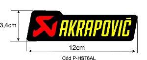 Adesivo térmico Akrapovic retangular 12cm