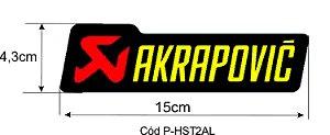 Adesivo térmico Akrapovic retangular 15cm