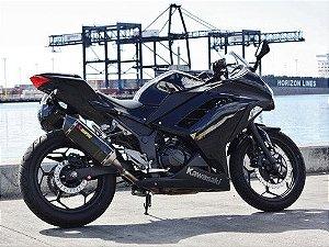 Ponteira Akrapovic Carbono - Kawasaki Ninja 250R / Ninja 300 / Z300 (13~19) .