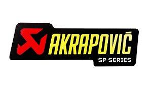 Adesivo térmico Akrapovic retangular 15cm SP SERIES