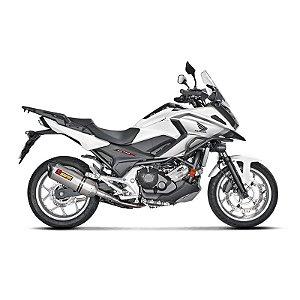 Ponteira Akrapovic titânio- Honda NC 700/750 (15~19)