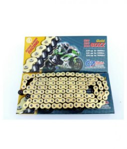 "Corrente CZ CHAIN 520 X 120 GOLD com retentor em ""Z"""