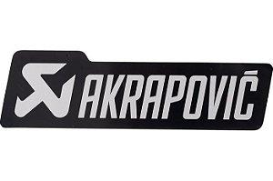Adesivo térmico Akrapovic retangular 13,5cm Black