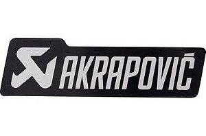 Adesivo térmico Akrapovic retangular 15,0 cm Black