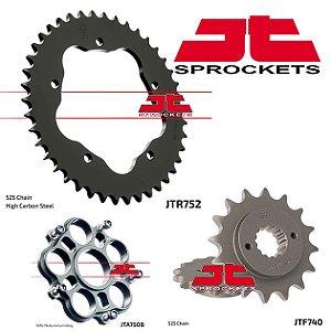 Coroa com Adaptador e Pinhão JT Sprockets Ducati Monster  796 / 1100 (2012-15)