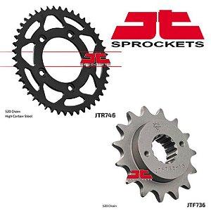 Coroa e Pinhão JT SPROCKETS DUCATI Monster 797 / 800 Scrambler  46 /15 Dentes