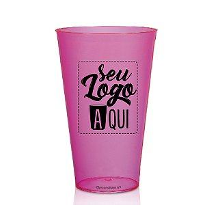 Copo Big Drink Rosa 550ml - Acrilico PS