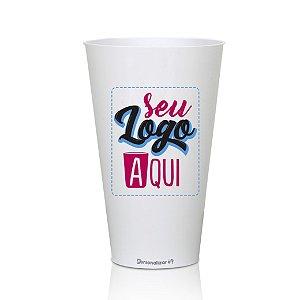 Copo Big Drink Branco 550ml - Acrilico PS