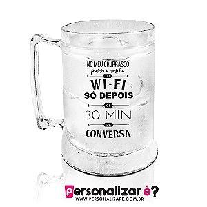 Caneca Gel  'Churrasco sem Wi-Fi'