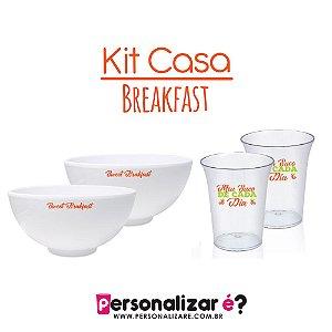"Kit Casa ""Breakfast"" 2 bowl e 2 copos"