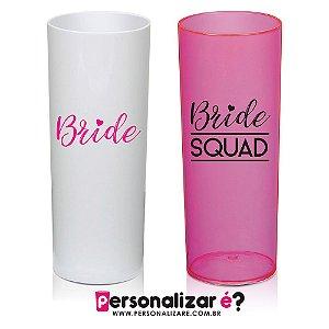 """Kit 10 Copos Drink  """"Bride + Bride's Squad"""""""
