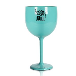Taça Gin 550ml Azul Tiffani  - Poliestireno Acrilico PS