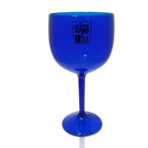 Taça Gin 550ml Azul- Poliestireno Acrilico PS