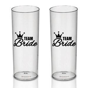 2 Kit Copo Long Drink 300ml - Despedida de Solteira Team Bride