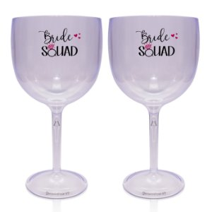 Kit 2 Taça Gin Acrílico 550ml - Bride Squad