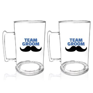 Kit 2 Caneca Acrilico PS 450ml  - Team Groom