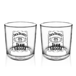 Kit 2 Copo Whisky Acrílico 320ml - Jack Daniels Team Groom