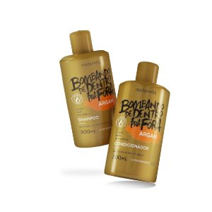 KIT ARGAN MADAMELIS SHAMPOO E CONDICIONADOR 300ML