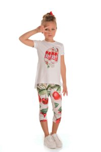 Conjunto Infantil Blusa e Legging Cerejas
