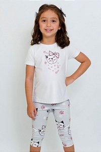 Conjunto Infantil Blusa e Legging Gatinho
