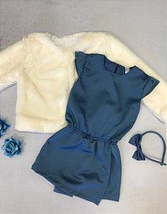 Macaquinho Infantil Azul Royal