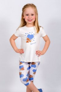 Conjunto Infantil Blusa e Legging Urso Azul