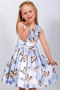 Vestido Infantil Beagle Azul