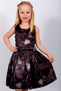 Vestido Infantil Balão Preto