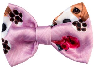 Bico de Pato Infantil Beagle Xadrez Rosa