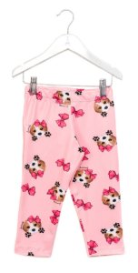 Legging Curta Beagle Rosa