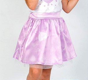Saia Infantil com Estampa Balão Roxo