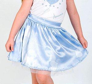 Saia Infantil com Estampa Balão Azul