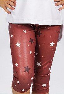 Legging Curta Estrela Vermelho