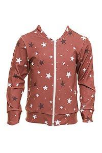 Casaco Com Zíper Estrela Vermelho
