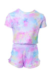 Conjunto Infantil Blusa e Shorts Tie Dye Rosa