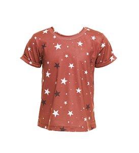 Blusa Infantil Estrelas Vermelha