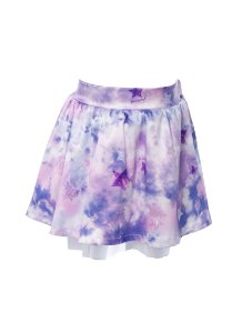 Saia Infantil com Estampa Tie Dye Roxo
