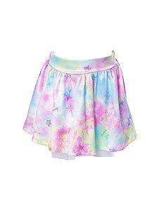 Saia Infantil com Estampa Tie Dye Rosa