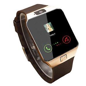 Smart Watch Relógio Inteligente Bluetooth - Com Câmera e Som - Entrada para Chip e Cartão de Memória