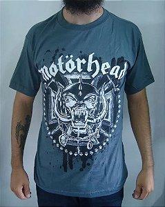 Camiseta Motorhead - Cinza