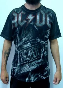 Camiseta Full Print - AC DC