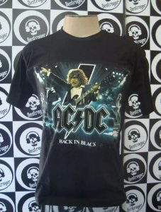 Camiseta AC DC - Back in Black