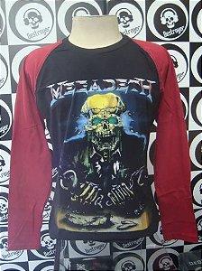 Camiseta Manga Longa Raglan Megadeth