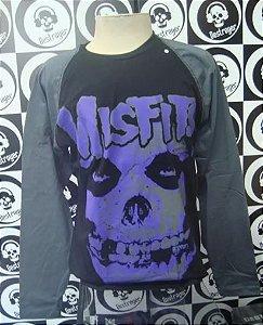 Camiseta Manga Longa Raglan - The Misfits