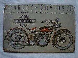 Placa Vintage Harley Davidson Motorcycles