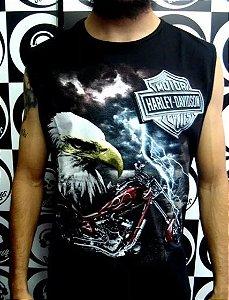Camiseta Regata Machão - Harley Davidson - Águia