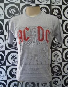 Camiseta AC DC - For those About to Rock - Cinza
