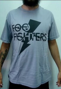 Camiseta Foo Fighters - Cinza