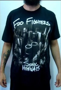 Camiseta Foo Fighters - Sonic Highways
