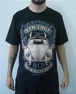 Camiseta Promocional - Fusca - Vintage - Black Hills Rally